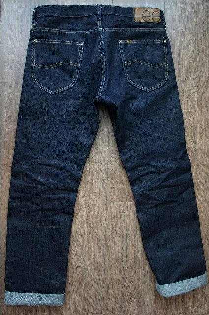 30 dagen back Lee Jeans long john blog Freddy Keyner 23oz special edition raw rigid selvage selvedge usa worn-out 250 pieces handmade america HD Lee 125 years 2014 blue