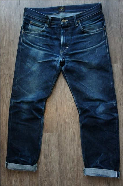 390 dagen Lee Jeans long john blog Freddy Keyner 23oz special edition raw rigid selvage selvedge usa worn-out 250 pieces handmade america HD Lee 125 years 2014 blue