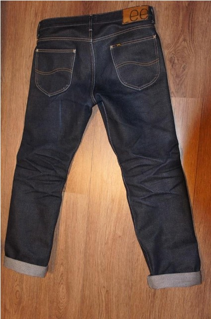 60 dagen back Lee Jeans long john blog Freddy Keyner 23oz special edition raw rigid selvage selvedge usa worn-out 250 pieces handmade america HD Lee 125 years 2014 blue