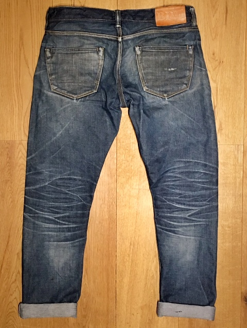 BDD-016 -- worn 15 months, washed 1 time (this is just after the wash long john blog denim jeans blue indigo lennaert nijgh benzak denim developers robin batens (1)