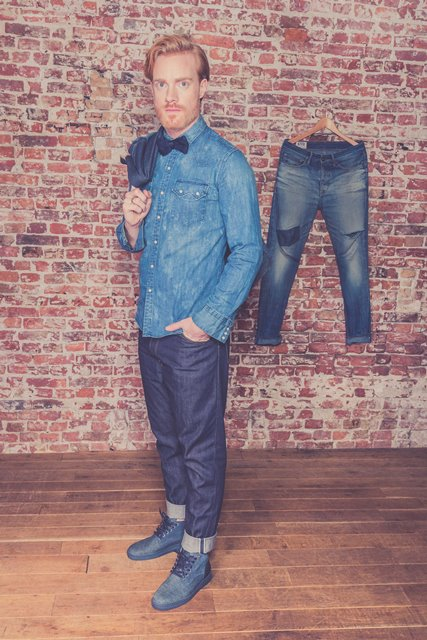 BLUEDAYS -  Brogue Lee men only fall winter 2016 blue days footwear long john blog shoes denim jeans blue indigo holland yanto drogt  (2)