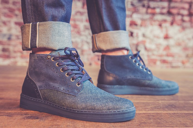 BLUEDAYS -  Brogue Lee men only fall winter 2016 blue days footwear long john blog shoes denim jeans blue indigo holland yanto drogt  (3)
