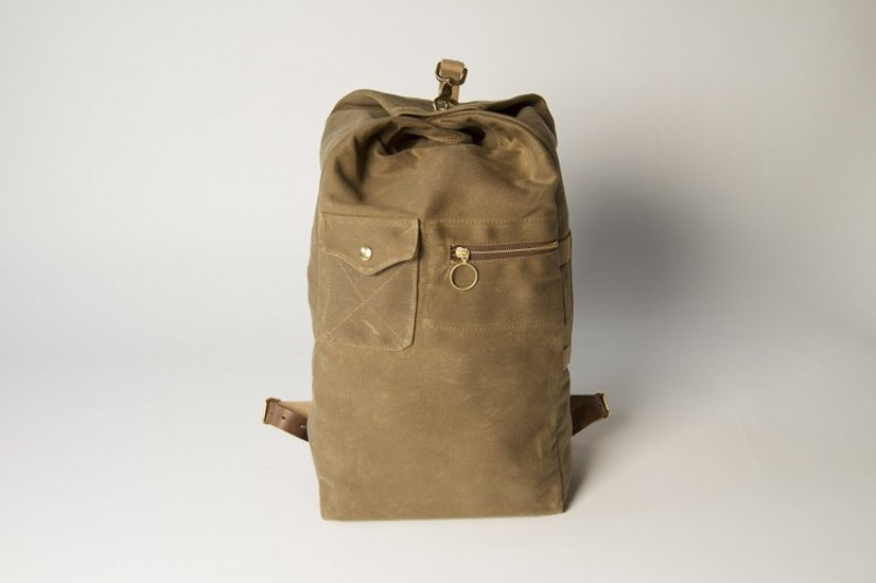 Collected works co long john blog Military Duffle Backpack bag hand made canvas leather duffle bag green army