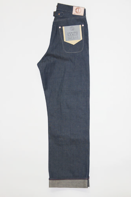 Dawson Wide leg jeans  DD03 white selvedge long john blog selvage handmade uk blue indigo natural shuttle loom single needed 5 pocket miners western cowboy (5)