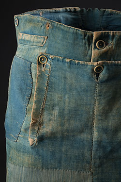 Denim Fashion Frontier, emma mcclendon long john blog jeans denim authentic workwear 1840 old vintage museum collector item pateched repair (6)