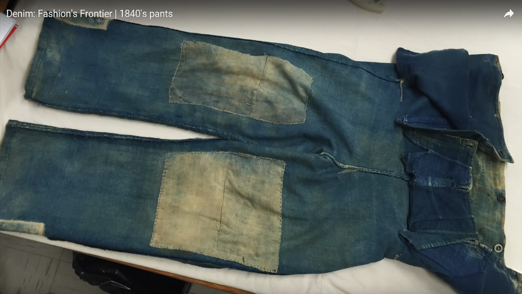 Denim Fashion's Frontier  1840's pants long john blog jeans denim workwear old authentic (3)