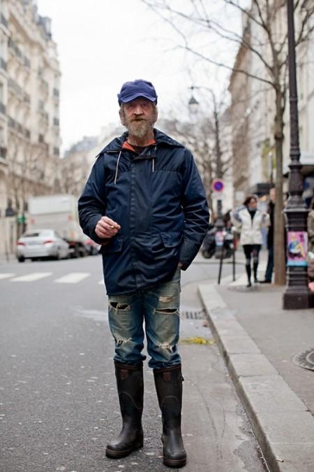 Fisherman on the street The Sartorialist LONG JOHN