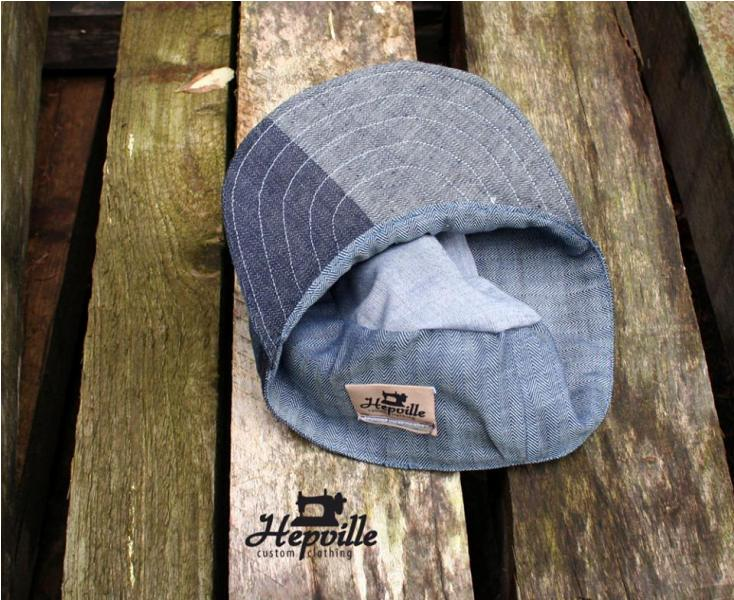 Handmande Cap by Hepville Custom Clothing cadet long john blog jeans denim chambray fabrics japan old new product unique selvage selvedge (2)