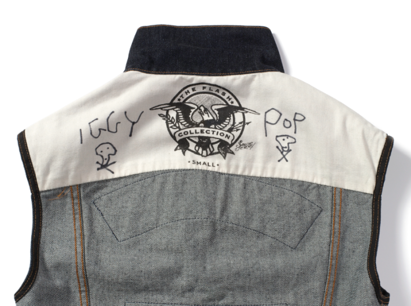 Iggy Pop sailor jerry collab collaboration long john blog denim vest jeans blue raw rigid patches tattoo made in usa la limited edition special 2014 bikers biker music rock and roll 50 pieces only (2)