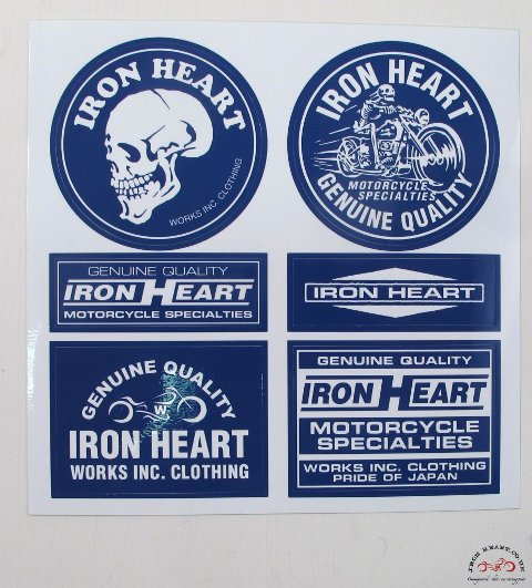 Iron Heart Denim badges stickers jeans denim LONG JOHN (1)