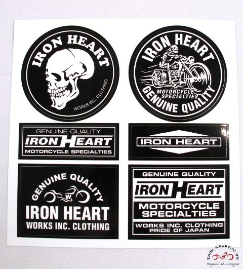 Iron Heart Denim badges stickers jeans denim LONG JOHN (3)