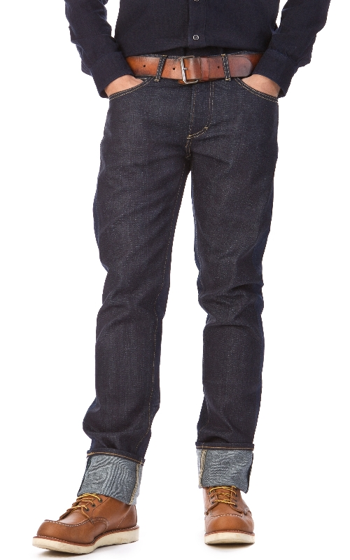 LEE 101 S Slim Rider Dry Fabric Mix 13oz  12oz long john blog raw selvage green plain usa winter 2014 left hand right hand  (2)