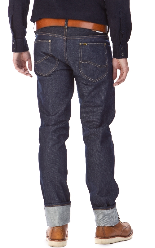 LEE 101 S Slim Rider Dry Fabric Mix 13oz  12oz long john blog raw selvage green plain usa winter 2014 left hand right hand  (4)