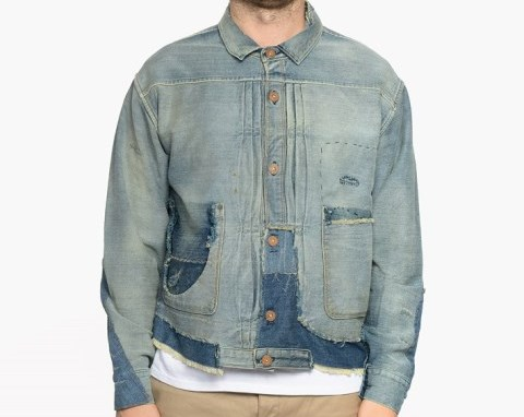 LVC-Levis-vintage-clothing-long-john-blog-1878-Triple-Pleated-Blouse-Rooftop-made-in-usa-denim-jeans-rigid-raw-unwashed-trucker-jacket-type-2-red-tab-big-E-sashiko-stiching-j