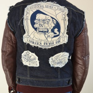 Lee Jeans 101 rider jacket sleeveless dorus rijkers long john blog wouter munnichs joost bohn amsterdam eindhoven jeans denim facebook action like and share blue raw selvage green handmande (13)