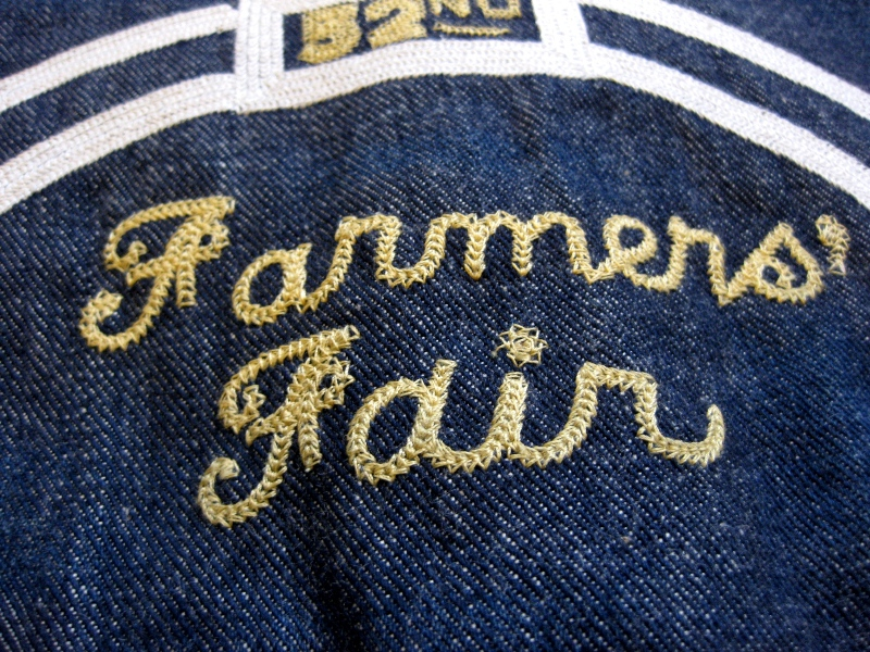 Lee Jeans farmers fair 1957 jacket long john blog rigid raw left hand special edition union made blue denim jeans buttons cat eyes non-selvage new codition vintage re-production  (15)
