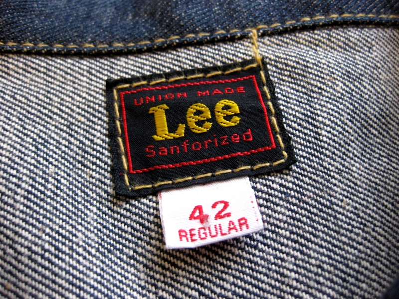 Lee Jeans farmers fair 1957 jacket long john blog rigid raw left hand special edition union made blue denim jeans buttons cat eyes non-selvage new codition vintage re-production  (4)