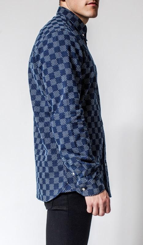 Livid Jeans Norman Japan Stars & Dots Shirt long john blog denim shirt japan fabric blue indigo norway brand (1)