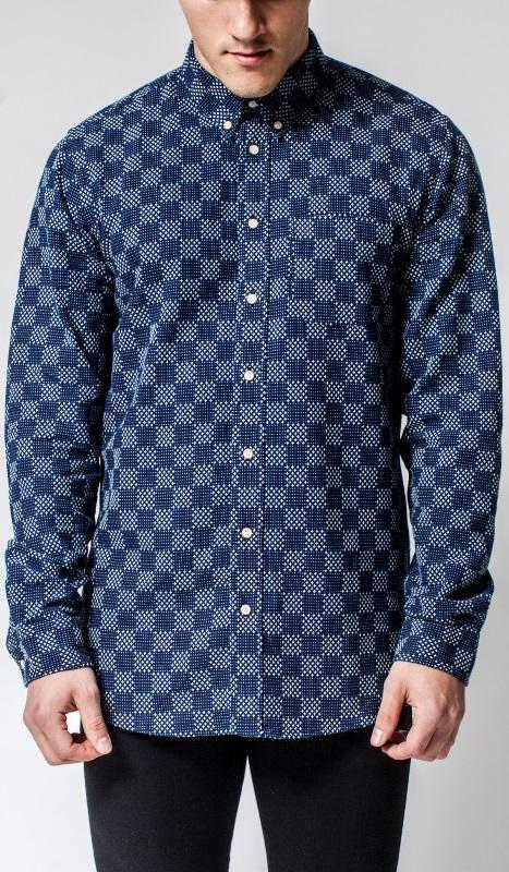 Livid Jeans Norman Japan Stars & Dots Shirt long john blog denim shirt japan fabric blue indigo norway brand (2)