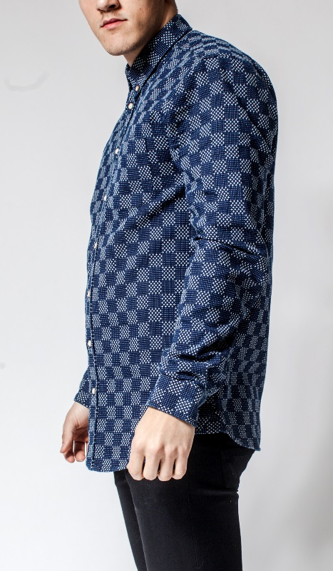 Livid Jeans Norman Japan Stars & Dots Shirt long john blog denim shirt japan fabric blue indigo norway brand (3)