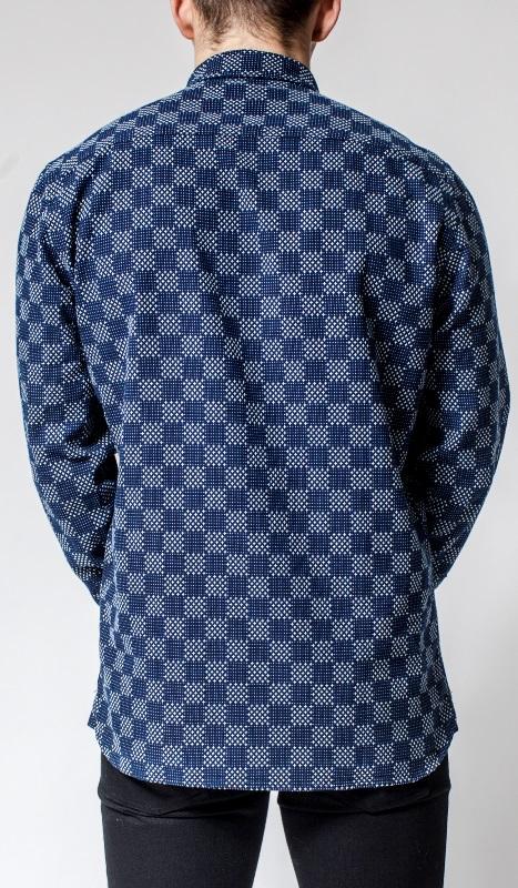 Livid Jeans Norman Japan Stars & Dots Shirt long john blog denim shirt japan fabric blue indigo norway brand (4)