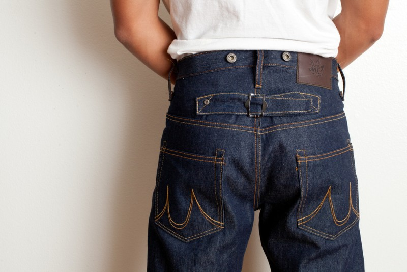 Maple Motorcycle jeans long john blog Straight Cut – 1941 – Made in Los Angeles selvage selvedge rigid raw blue unwashed 5 pocket inseam yoke pocket flasher bikers bikes motor (2)