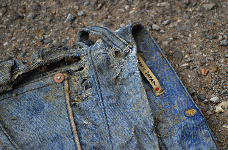 Michael Chell long john blog 3 months river wash thames denim jeans destroyed tears worn-out washed out selvage selvedge blue river uk (1)