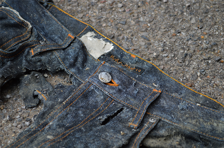 Michael Chell long john blog 3 months river wash thames denim jeans destroyed tears worn-out washed out selvage selvedge blue river uk (7)
