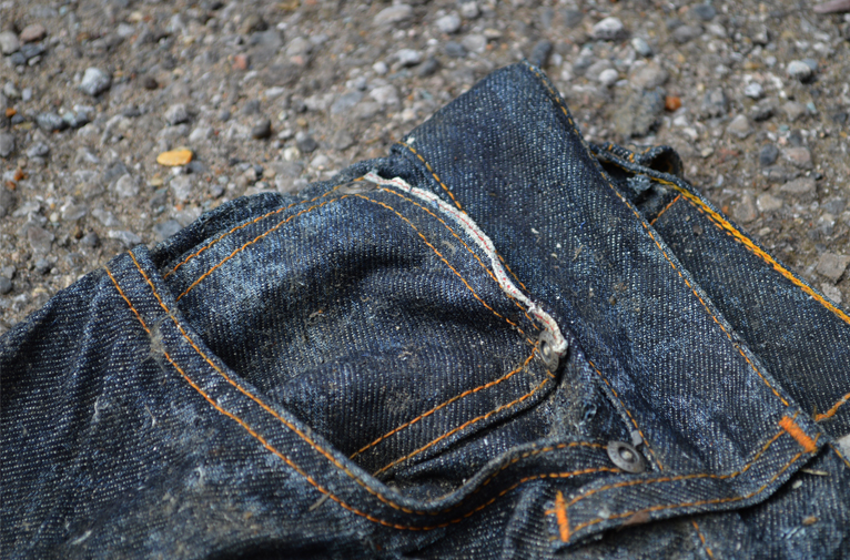 Michael Chell long john blog 3 months river wash thames denim jeans destroyed tears worn-out washed out selvage selvedge blue river uk (8)