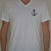 Mr Anchor t-shirt v-neck LONG JOHN logo anchor