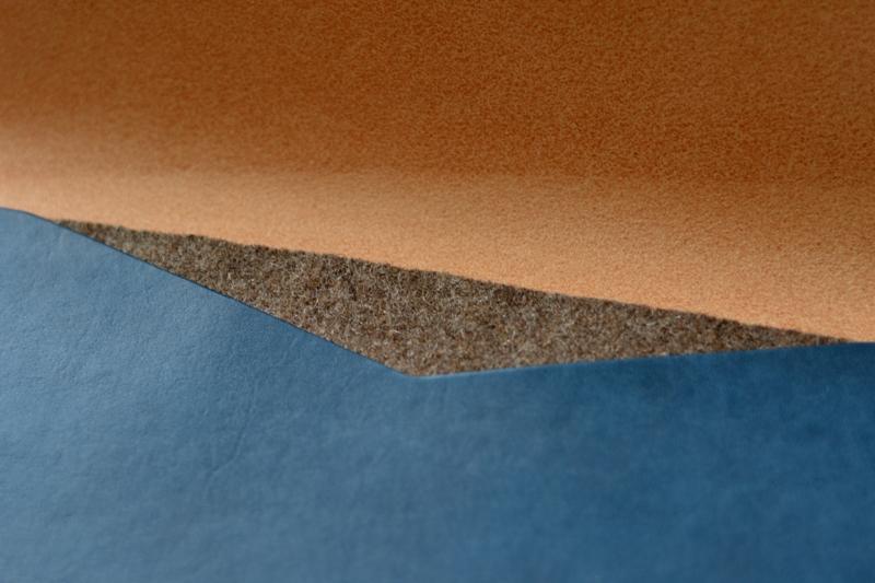Noise goods indigo folio A4 clutch long john blog blue portugal natural tanned leather handmade europe denim jeans new paper bag big wallet canvas wool inner pocket (11)