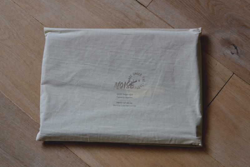 Noise goods indigo folio A4 clutch long john blog blue portugal natural tanned leather handmade europe denim jeans new paper bag big wallet canvas wool inner pocket (2)