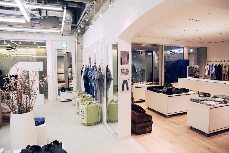 omotesando hills store in tokyo japan denham jeans jason. Black Bedroom Furniture Sets. Home Design Ideas