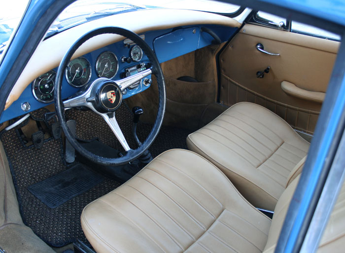 denim blue vintage porsche 356c coupe from 1964 long john. Black Bedroom Furniture Sets. Home Design Ideas