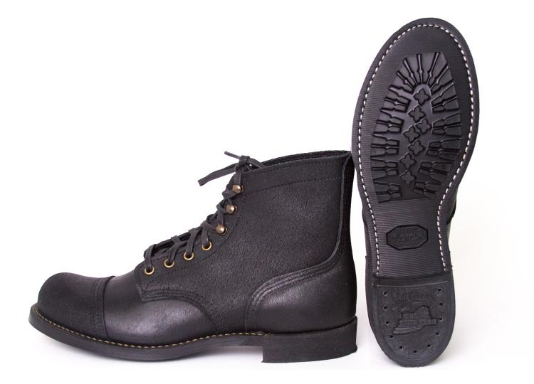 Red-Wing-Wrenchmonkees-boots long john blog collab usa workwear black bikers bikes usa goodyear welted rough leather limited 666 pairs only 2015 denmark  (1)