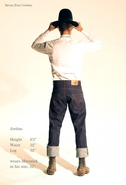 Seven Foot Cowboy denim jeans new brand UK clothing LONG JOHN (3)