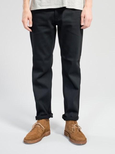 Steady-Eddie-Black-Selvage-Denimopedia_6 long john blog nudie jeans sweden maria 2015 fit selvage selvedge worn-out warps weft shuttle loom old worn vintagte  (8)