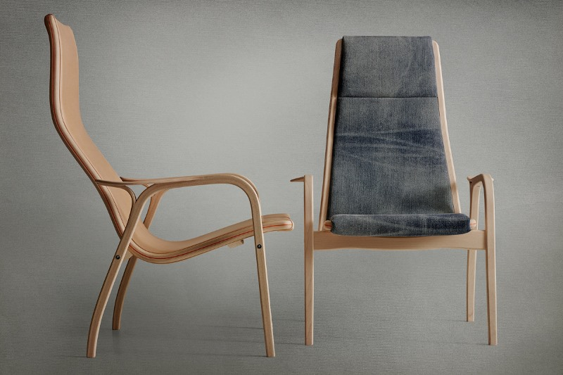 Swedish furniture producer Swedese long john blog nudie jeans denim sweden chair collabo collaboration wood wooden natural selvage selvedge handmade limited edition 2015  (4)
