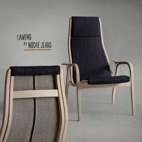Swedish furniture producer Swedese long john blog nudie jeans denim sweden chair collabo collaboration wood wooden natural selvage selvedge handmade limited edition 2015  (5)