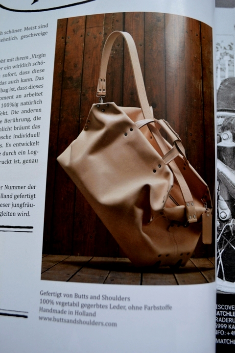 The heritage post magazine no 9 april 2014 uwe stefanie butts and shoulders long john blog travel bag natural tanned leather handmade holland dirk hens hans boons wouter munnichs magazine  (1)