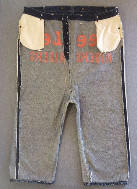 Vintage LEE jeans 40s Union Made Denim Selvedge Donut Sewn RIDERS long john ebay auction 2014 usa selvage selvedge old rodeo clown jeans 5 pocket lee riders western cowboy (1)