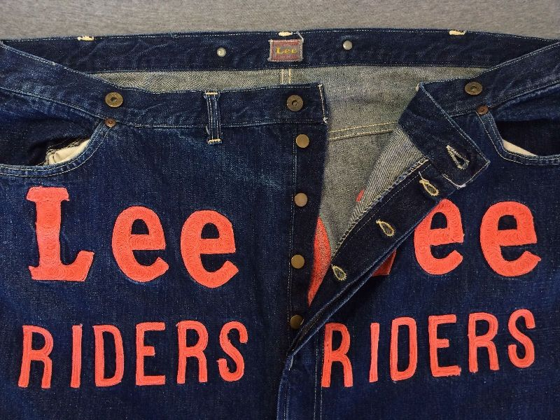 Vintage LEE jeans 40s Union Made Denim Selvedge Donut Sewn RIDERS long john ebay auction 2014 usa selvage selvedge old rodeo clown jeans 5 pocket lee riders western cowboy (2)