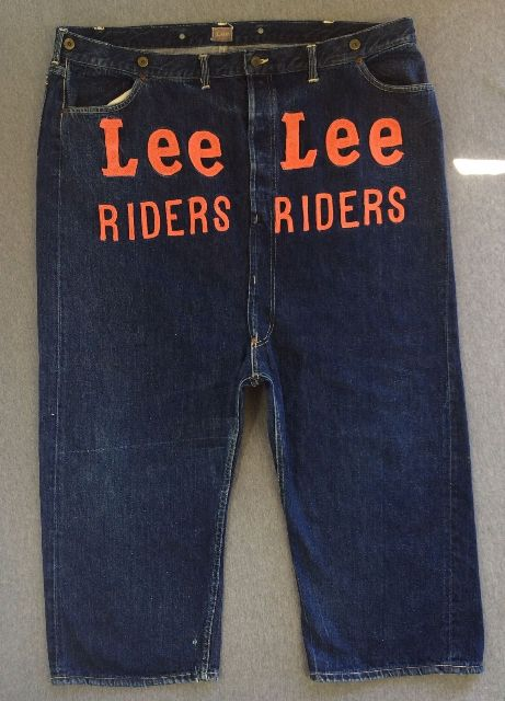 Vintage LEE jeans 40s Union Made Denim Selvedge Donut Sewn RIDERS long john ebay auction 2014 usa selvage selvedge old rodeo clown jeans 5 pocket lee riders western cowboy (3)
