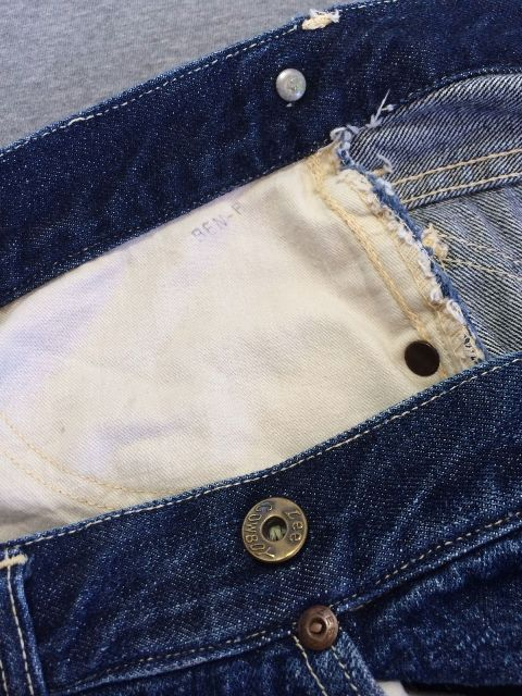 Vintage LEE jeans 40s Union Made Denim Selvedge Donut Sewn RIDERS long john ebay auction 2014 usa selvage selvedge old rodeo clown jeans 5 pocket lee riders western cowboy (5)