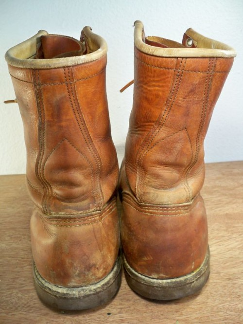 Vintage Santa Rosa Union Made Leather Work Boots Long John