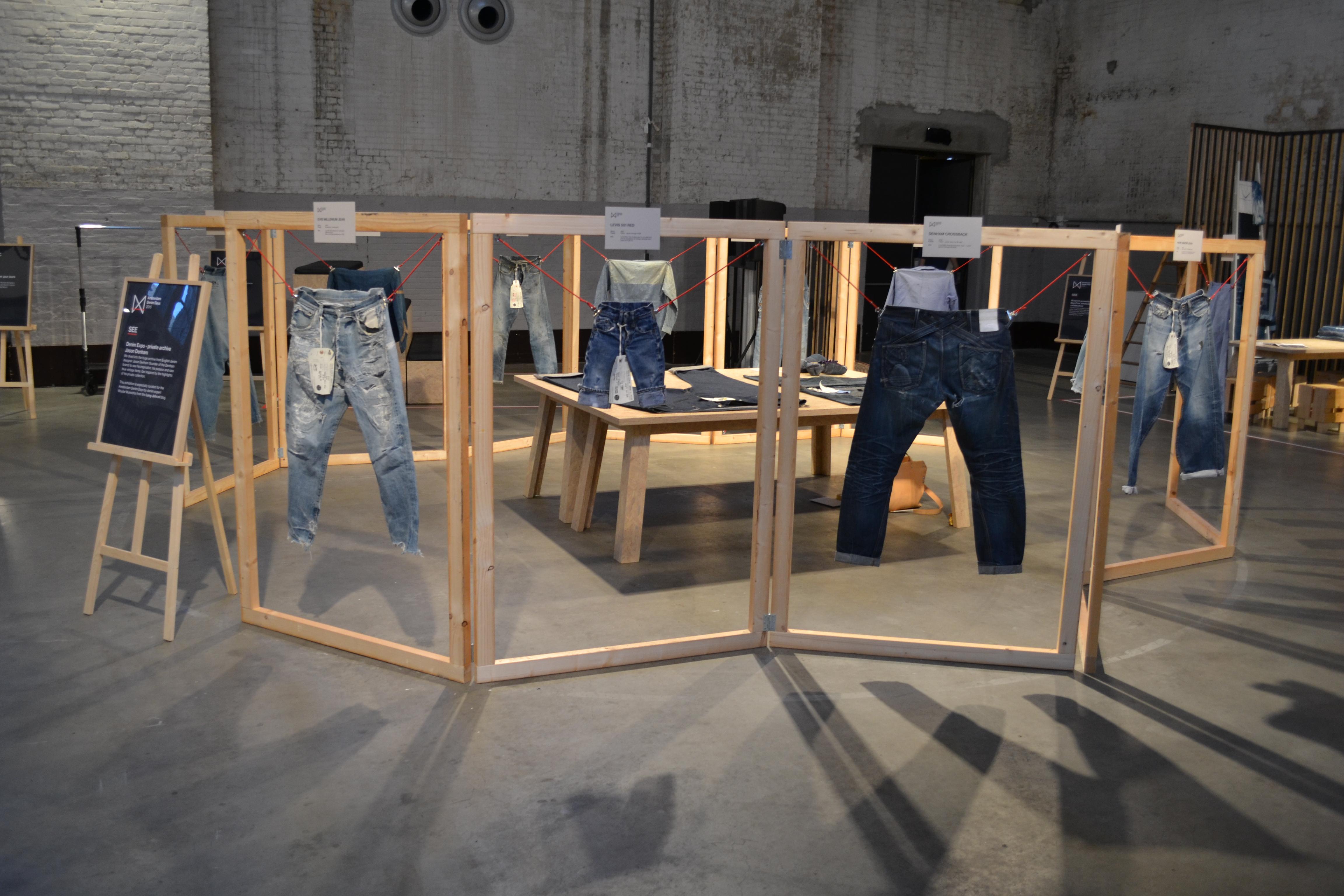 amsterdam denim days long john blog denham jason expo curated by wouter munnichs jeans denim workwear evis evisu levi's boro japan event gloves indigo pepe jeans minor big e (1)