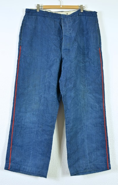 bazardespoilus french france workwear jackets jack long john blog pants trouser trousers blue indigo vintage original 1940 1950 for sale patched repaired  (3)