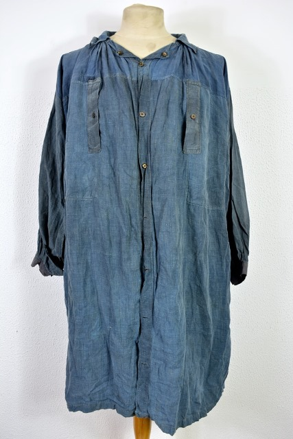 bazardespoilus french france workwear jackets jack long john blog pants trouser trousers blue indigo vintage original 1940 1950 for sale patched repaired  (4)
