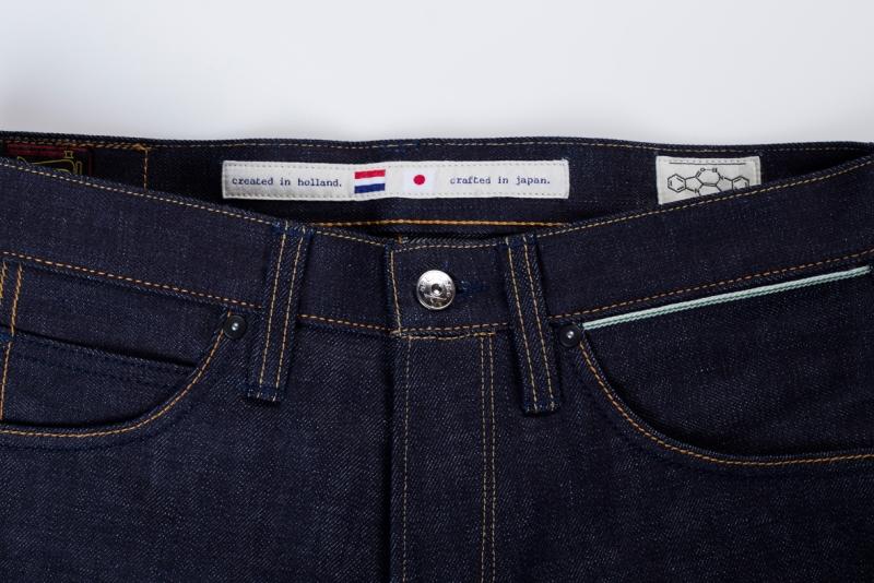 benzak denim developers bdd long john blog indigo collect mill japan jeans special fit 14oz selvage selvedge model white tee black 2016 lennaert nijgh leather patch (1)