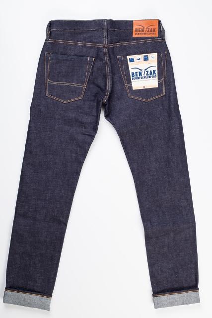 benzak denim developers bdd long john blog indigo collect mill japan jeans special fit 14oz selvage selvedge model white tee black 2016 lennaert nijgh leather patch (3)